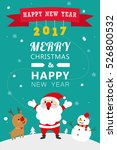 merry christmas and happy new... | Shutterstock .eps vector #526800532