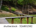 zigzag wood bridge between road ... | Shutterstock . vector #526801582