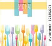 retro menu  watercolor  vector | Shutterstock .eps vector #526803376