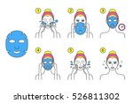 how to apply facial cosmetic... | Shutterstock .eps vector #526811302