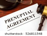 papers with title prenuptial... | Shutterstock . vector #526811548