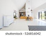 spacious scandynavian style... | Shutterstock . vector #526816042
