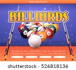 billiards poster event info...   Shutterstock .eps vector #526818136