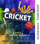 cricket event poster background ... | Shutterstock .eps vector #526818265