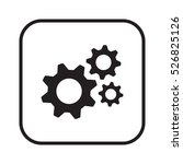 gears icon. flat design. | Shutterstock .eps vector #526825126