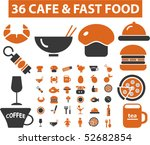 36 cafe   fast food signs.... | Shutterstock .eps vector #52682854