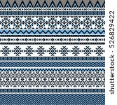 ethnic seamless pattern with... | Shutterstock .eps vector #526829422