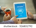 job search concept on screen | Shutterstock . vector #526831792