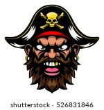 a mean looking cartoon pirate... | Shutterstock .eps vector #526831846