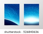 front and back cosmos flyer... | Shutterstock .eps vector #526840636