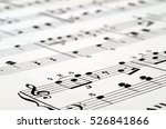 music score background   piano... | Shutterstock . vector #526841866