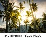 tropical sunrise cross... | Shutterstock . vector #526844206