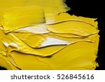 white and yellow oil paint... | Shutterstock . vector #526845616