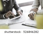 business adviser analyzing... | Shutterstock . vector #526846282