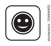 smile icon. flat design. | Shutterstock .eps vector #526846852