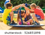 joyful active childhood.... | Shutterstock . vector #526851898