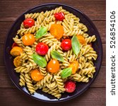 Fusilli Pasta Salad With Pesto...