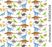 dinosaur seamless pattern on... | Shutterstock .eps vector #526856206