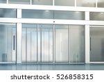 blank sliding glass doors... | Shutterstock . vector #526858315