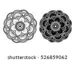 round ornament. ethnic mandala. ... | Shutterstock .eps vector #526859062