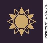 the sun icon. sunrise and... | Shutterstock . vector #526863976