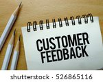 customer feedback text written... | Shutterstock . vector #526865116