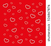 hearts background vector... | Shutterstock .eps vector #526867876