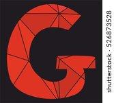 g red alphabet vector letter... | Shutterstock .eps vector #526873528