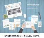 man analyzes documents.... | Shutterstock .eps vector #526874896