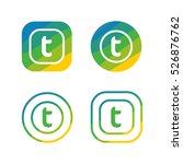 letter t nature logo | Shutterstock .eps vector #526876762