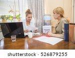 job interview  female boss is... | Shutterstock . vector #526879255