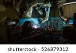 team robot welding movement... | Shutterstock . vector #526879312