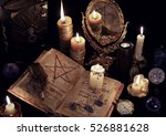 mystic still life with evil... | Shutterstock . vector #526881628