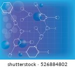 abstract molecules medical... | Shutterstock .eps vector #526884802