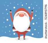 santa in snow | Shutterstock .eps vector #526893796