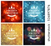 christmas greeting cards... | Shutterstock .eps vector #526897876