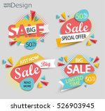 sale   set of color modern... | Shutterstock .eps vector #526903945