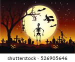 halloween day illustration | Shutterstock . vector #526905646