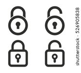 lock vector icons set.... | Shutterstock .eps vector #526905838
