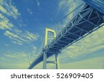 Duotone Graphic Of Modern Bridge
