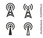 communication tower vector... | Shutterstock .eps vector #526909612