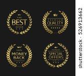 premium quality labels. golden...   Shutterstock .eps vector #526913662