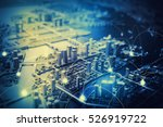 duotone graphic of smart city... | Shutterstock . vector #526919722