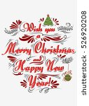 typographical greeting card.... | Shutterstock . vector #526920208