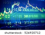 charts of financial instruments ... | Shutterstock . vector #526920712