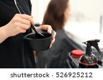 Barber Hair Dye Is Applied With ...