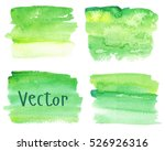 set of watercolor stains. spots ... | Shutterstock .eps vector #526926316