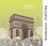 arc de triomphe | Shutterstock .eps vector #52692766