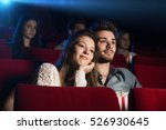 young loving couple at the... | Shutterstock . vector #526930645