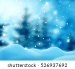 christmas winter landscape with ... | Shutterstock . vector #526937692